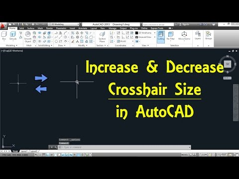 How to Increase and Decrease Crosshair Size in AutoCAD By Engineer AutoCAD Tutorials