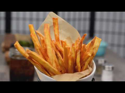 Deep Fried White Sweet Potato Fries