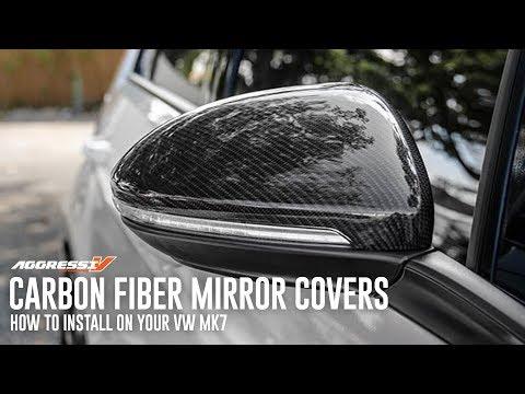 MK7 Carbon Fiber Mirror Cover Install // MK7 Golf, GTI, R, Sportwagen, Alltrack