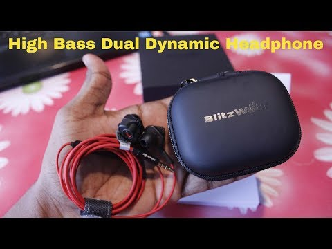 High Bass Headphone with Dual Dynamic Driver - BlitzWolf® BW ES2 Earphone HeadPhone