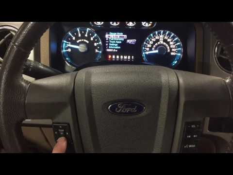 2012 Ford F-150 Oil life reset 2011 2013 2010