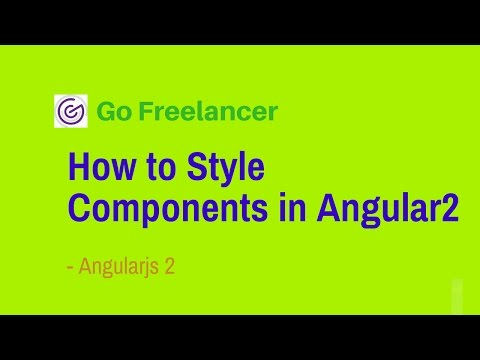 How to Style Components in Angular 2
