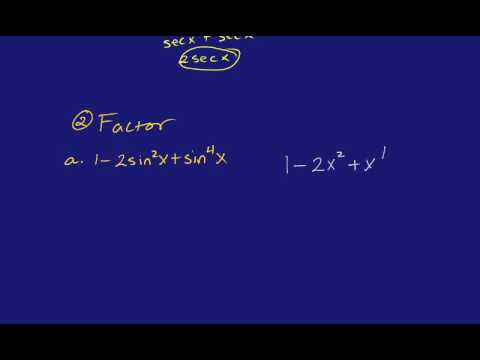 Simplifying Trig Expressions #1