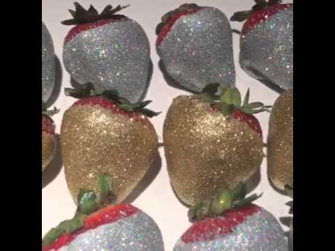 Silver and gold strawberry gems by @sweetserenity_desserts