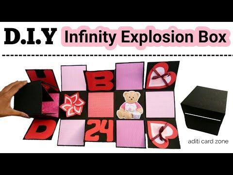 Best Handmade Gift Tutorial   DIY Infinity Explosion Box   DIY Scrapbook   DIY Gift Box  