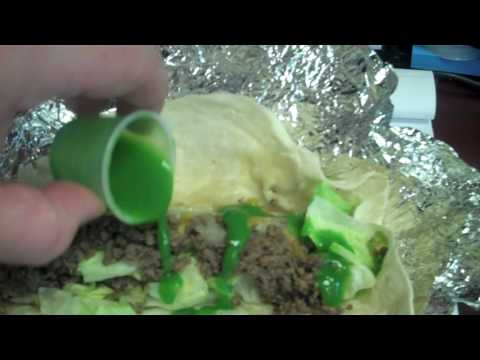 Green Sauce on the tacos