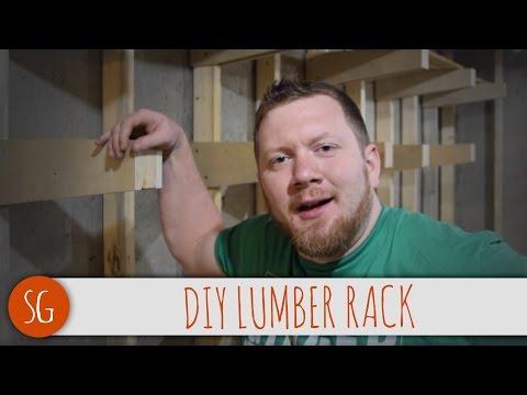 Super strong DIY lumber rack