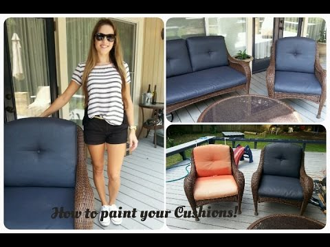 How to paint outdoor cushions!