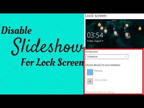 How To Disable Slideshow For Lock Screen In Windows 10