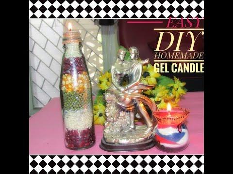 DIY EASY HOMEMADE DECORATIVE GEL CANDLES || घर पर GEL CANDLES कैसे बनाये