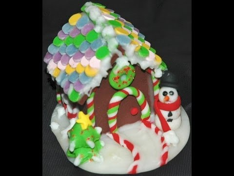 Gingerbread House (miniature) How to make in Polymer Clay for Christmas