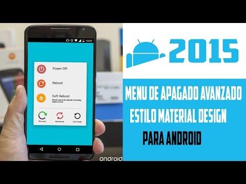 Menu de apagado avanzado estilo Material Design para Android//*ROOT*