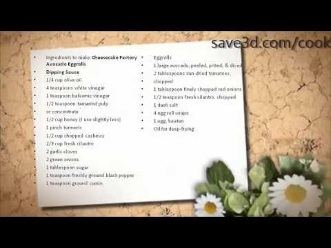 Secret Recipe - How to make Cheesecake Factory Avocado Eggrolls (Copycat Recipes)