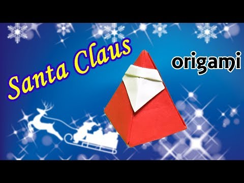 How to Make a Paper Santa Claus 3D | Origami Christmas Decoration Tutorial