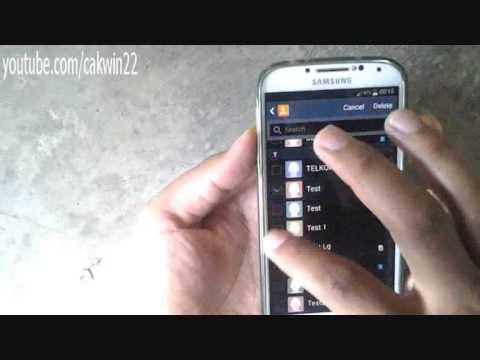 Samsung Galaxy S4: How to Delete Contacts (Android Kitkat)