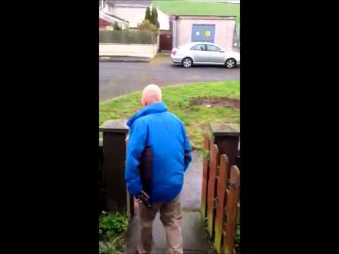 BBC TV LICENCE GOON IN THE NEWRY AREA NORTHERN IRELAND.