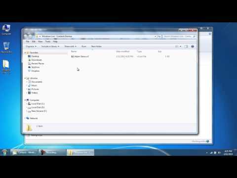How to Export Windows Live Mail Contacts in Windows 7