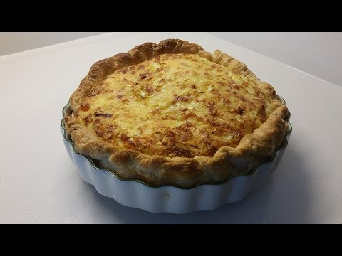 Quick and Easy Cheese and Onion Flan / Quiche Recipe in HD 1080p