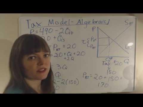 Tax Model (Algebraic)
