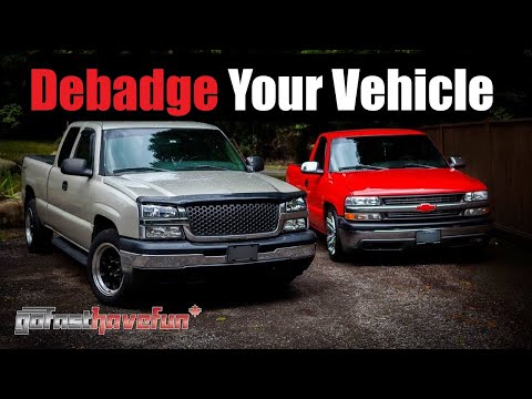 DE-BADGE your Car or Truck / Remove molding from a vehicle