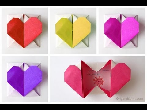 Easy Origami Heart-Box for Valentine's