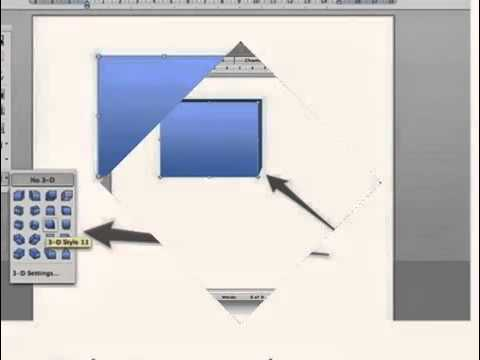 Create 3D Effect in MS Word