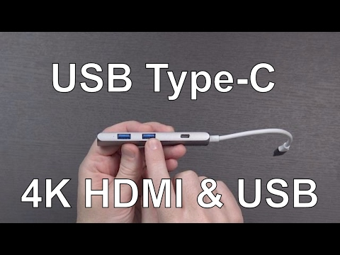 4K HDMI USB-C Adapter and Hub for 2016 MacBook Pro from FTLL