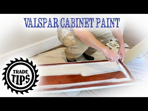 Valspar Cabinet Enamel Painting Cabinets Without Brush Marks - Trade Tips