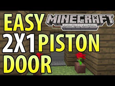 Minecraft (Xbox 360/PS3) - TU14 - EASY 2X1 PISTON DOOR - TUTORIAL
