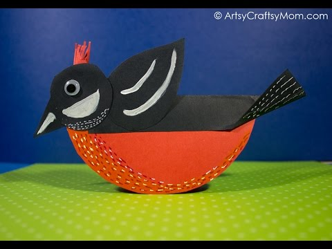 Rocking Birds Paper Craft perfect for Spring