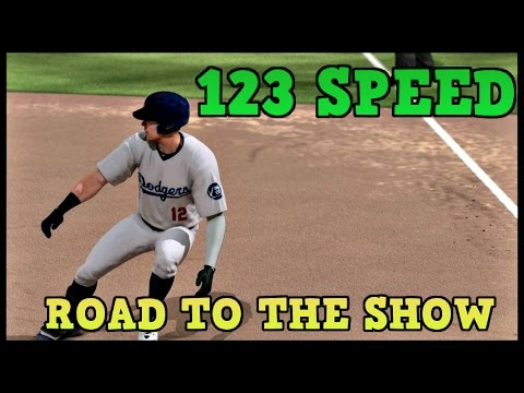 123 SPEED ROAD TO THE SHOW PLAYER!! MLB 15 THE SHOW DODGERS PROSPECT GAMEPLAY!