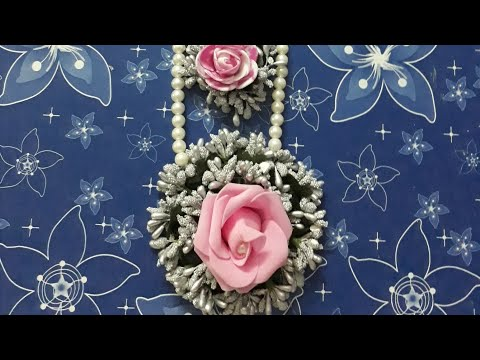 D.i.y how to make handmade flower jewellery super easy latest designs 2018