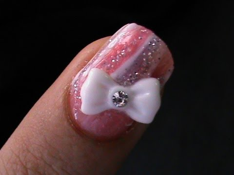How to do * 3D Bow Nail Art Tutorial *