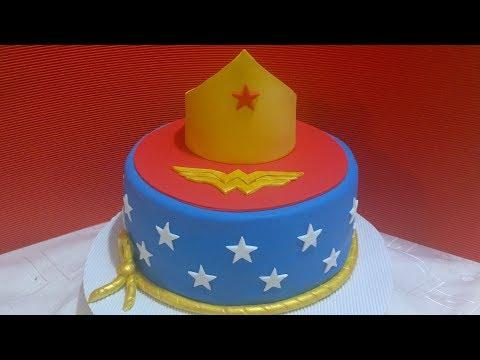 PASTEL MUJER MARAVILLA Paso a Paso ⭐   How To Make A WONDER WOMAN Cake!