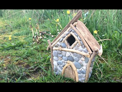 DIY How To Make a Miniature Stone and Driftwood Garden Fairy House Night Light