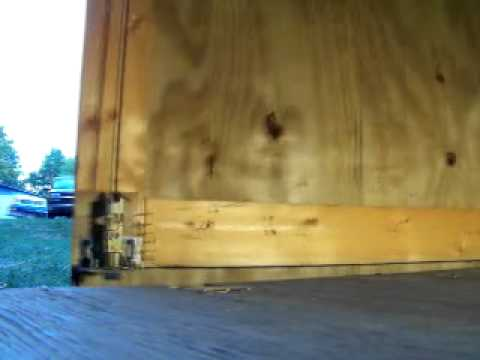 Shed Door latch demonstration