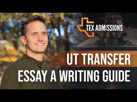 UT Transfer Essay A Statement of Purpose