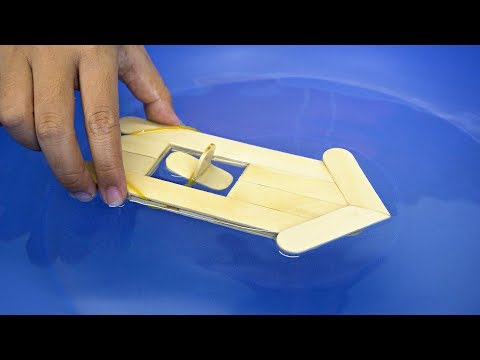 How to Make an Elastic Band Paddle Boat - Craft Ideas