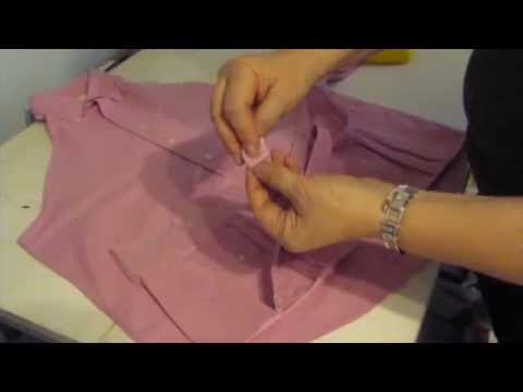 CREATING AN APRON FROM A MAN'S SHIRT