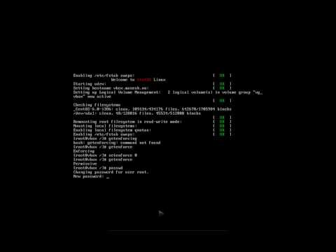 Root password recovery in Linux OS (CentOS 6)