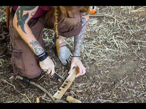 Survival Fire Making - Friction Fire with Bow Drill
