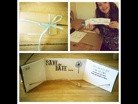 DIY: Rustic Bohemian Save The Date Cards