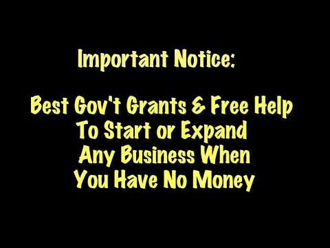 Best Place To Get Legitimate Business Grants When You Have No Money