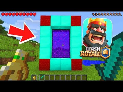 HOW TO MAKE A PORTAL TO THE CLASH ROYALE DIMENSION - MINECRAFT CLASH ROYALE