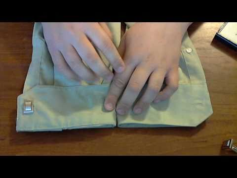 How to wear Cufflinks, and how to modify your shirt to use them