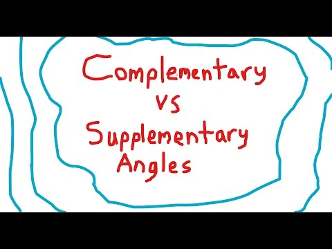 Simplest way to remember Complementary vs Supplementary Angles!
