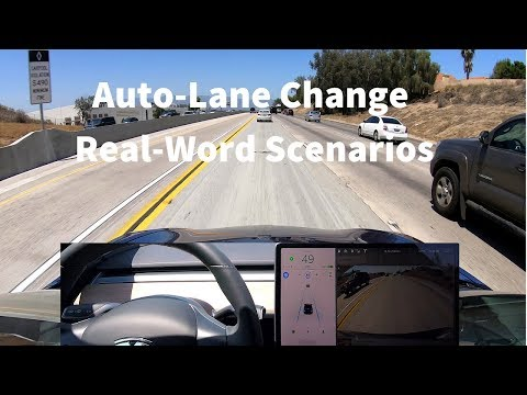 Tesla Auto-Lane Change in Real-World Driving Scenarios