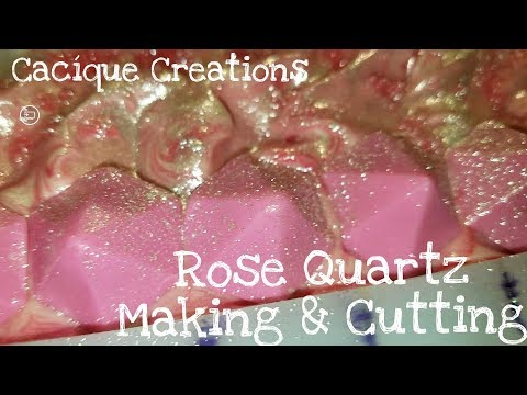 Rose Quartz Cold Process Soap Making - How To - DIY - Pink