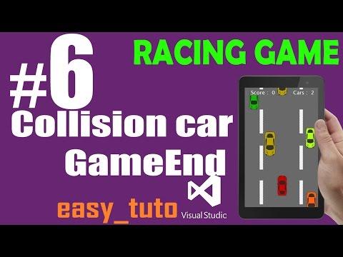 6 Collision Car GameEnd | Racing Game | Visual Studio | Beginners Full Tutorial HD