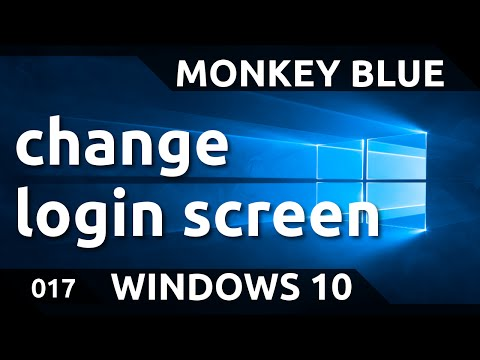 Windows 10: how to change login screen